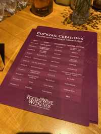 Peacock Alley Cocktail Creations