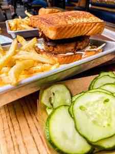 Regal Eagle BBQ Jackfruit Burger Pickles