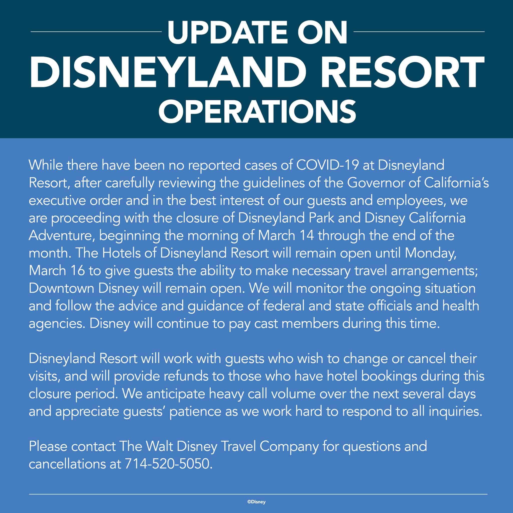 Disneyland Corona Virus