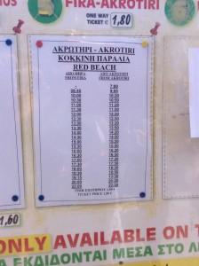 Horário Transporte público em Santorini