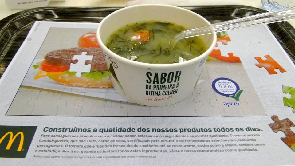 Caldo Verde do McDonald's pelo Mundo