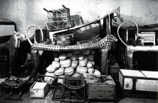 Objetos tumba do jovem faraó