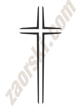 Zaorski - zdobienie krzyżem wariant 1