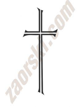 Zaorski - zdobienie krzyżem wariant 3