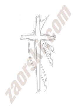 Zaorski - zdobienie krzyżem wariant 11