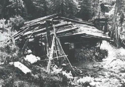 A cabana onde a família Lykov morou, no sul da Sibéria