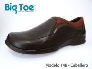 Zapato Big Toe para pie diabético de Caballero Modelo 148 Café