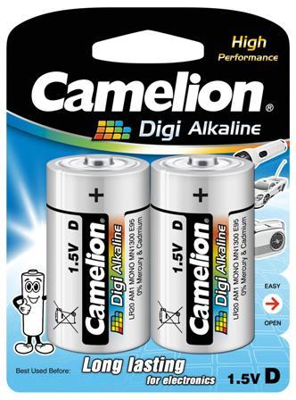 Digi Alcalina D (LR20) 1.5V (2 pcs) Camelion