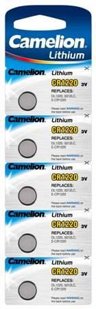 Boton Litio CR1220 3V (5 pcs) Camelion