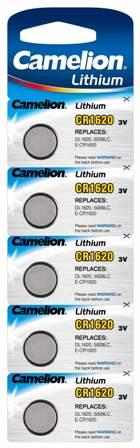 Boton Litio CR1620 3V (5 pcs) Camelion