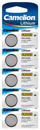Boton Litio CR2025 3V (5 pcs) Camelion