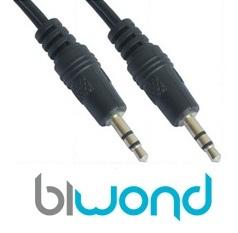 Cable Audio Estereo Jack 3.5mm 0.3m BIWOND