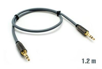 Cable Audio Jack 3.5mm M/M 1.2m Plata BIWOND