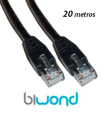 Cable Ethernet 20m Cat 6 BIWOND