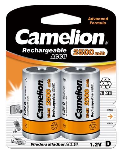 Recargable D 2500mAh (2 pcs) Camelion