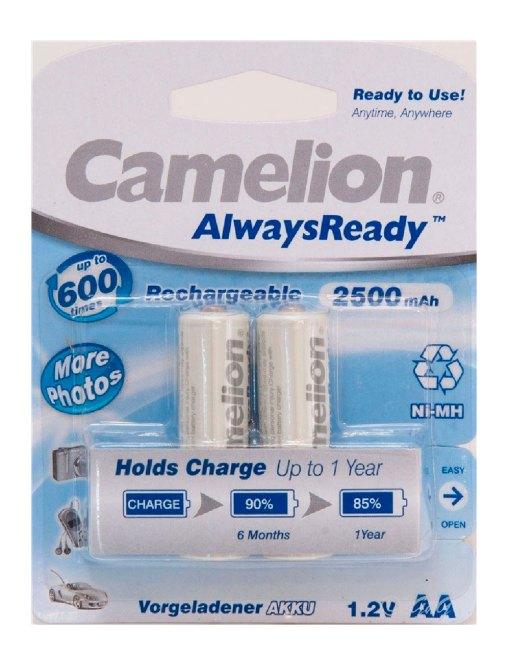 "Recargable ""Always Ready"" AA 2500mAh (2 pcs) Camelion"