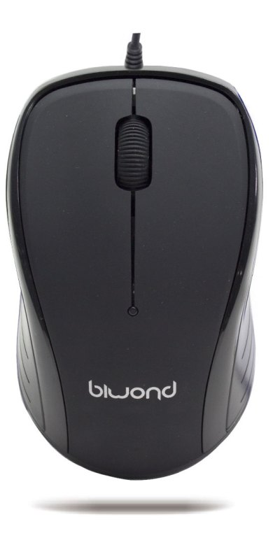 Raton Wired 2.0 USB Negro Biwond