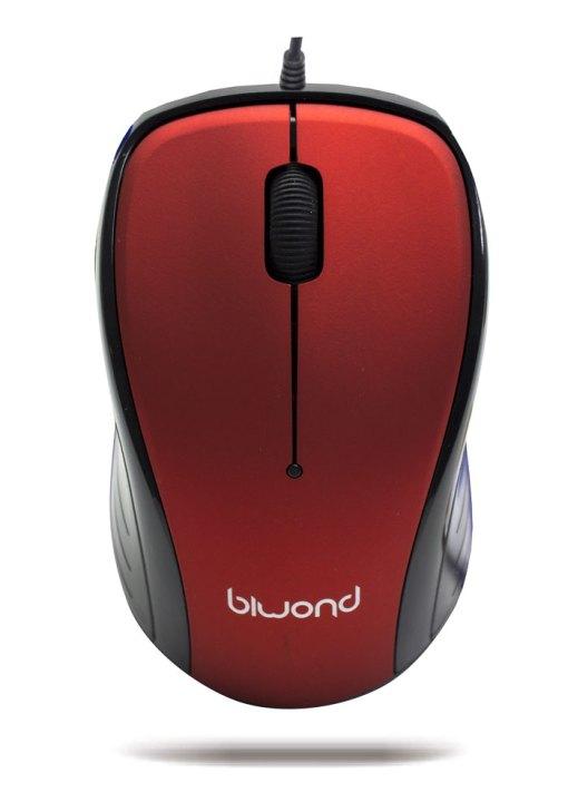 Raton Wired 2.0 USB Rojo Biwond