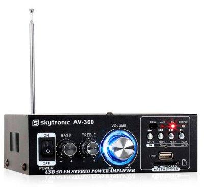 Mini Amplificador 2x40W Skytronic AV-360
