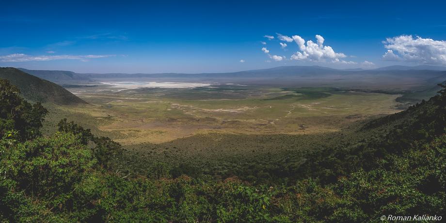 Panoráma krátera Ngorongoro