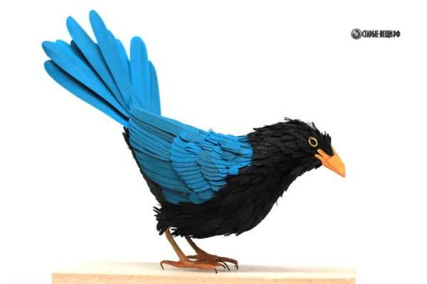 Объемная птица из бумаги схемы