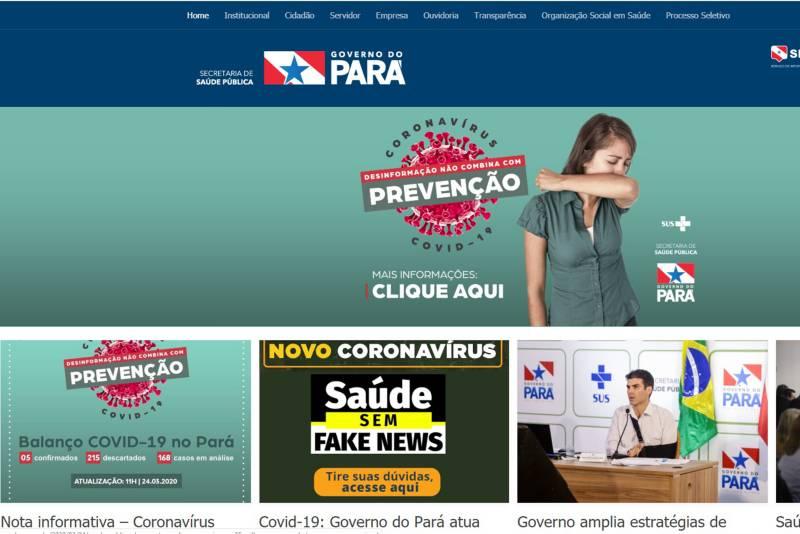 Covid-19: Governo do Pará atua para combater fake news