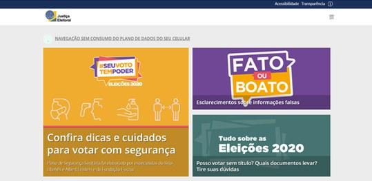 Portal da Justiça Eleitoral oferece, sem gastar pacote de dados, serviços e dicas ao eleitor