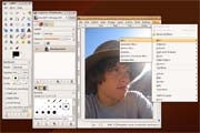 The GIMP image editor; click to view full-size image.