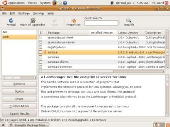 Synaptic Package Manager