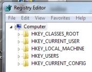 Using the built-in Registry Editor.