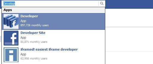 Facebook's Developer App