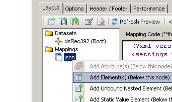 SSIS JSON Generator - Add data bound columns