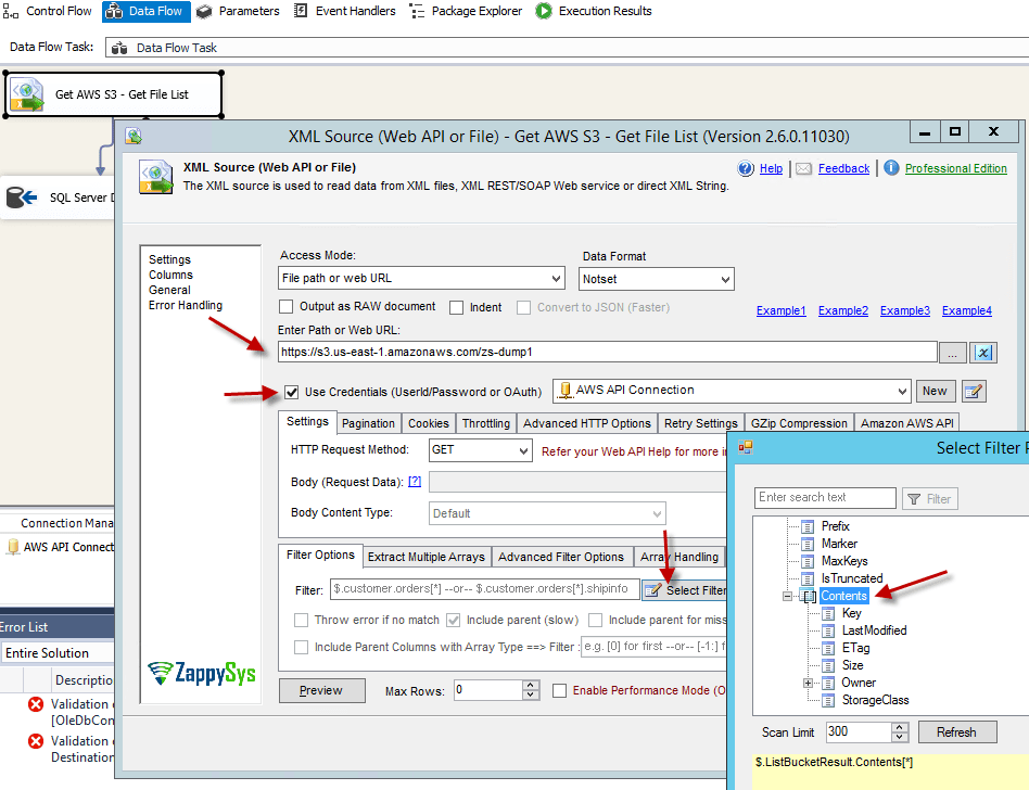 How to call Amazon AWS API using SSIS (EC2, Lambda, API