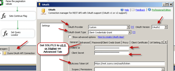 SSIS OAuth Connection For Zuora API
