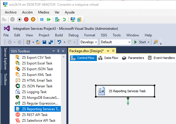 Task to convert SSRS report into files