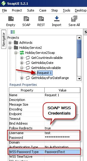 Configure SOAP WSS Credentials for SoapUI (SOAP API Testing Tool)