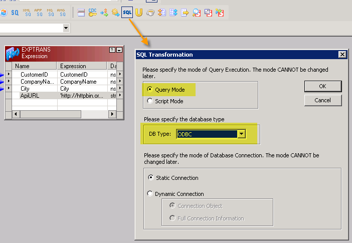 POST data to API in Informatica using SQL Transformation