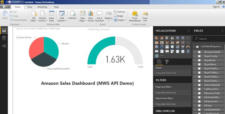 Connect to MWS - Amazon Seller Central API - Microsoft Power BI