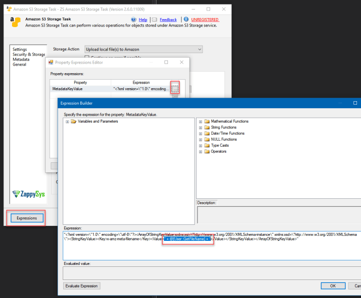Set Amazon S3 File Metadata Key/Value dynamically