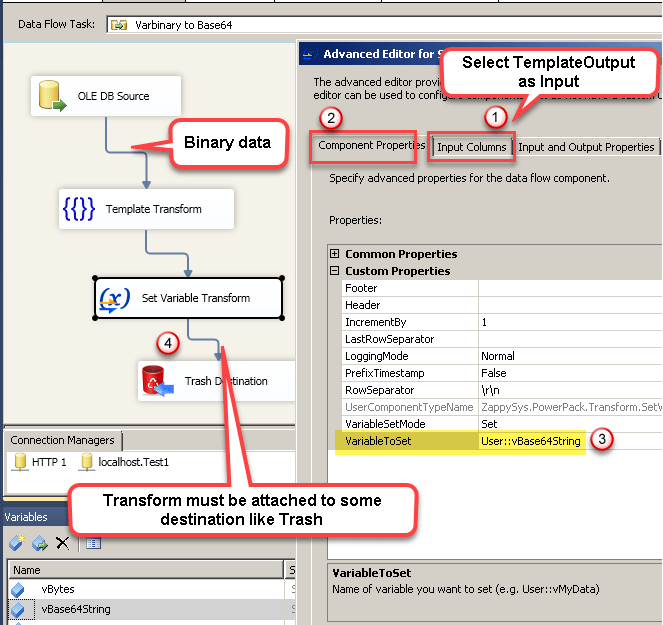 How to convert Varbinary to Base64 in SSIS | ZappySys Blog