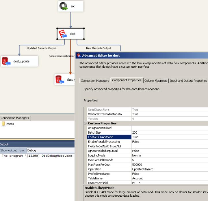 SSIS Salesforce Destination - Upload Data using BULK API mode
