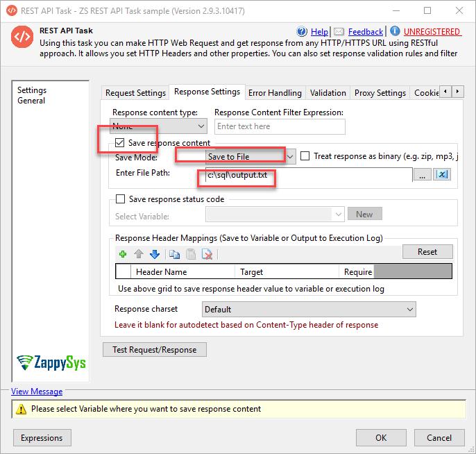 Wordpress response into file