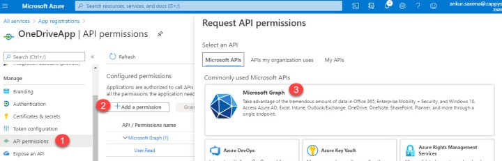 OneDrive API Permissions