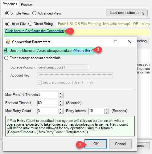 Create Azure Storage Connection