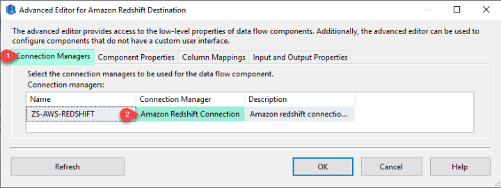 SSIS Amazon Redshift Destination - Connection Manager
