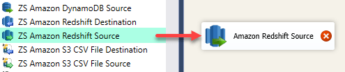 SSIS Amazon Redshift Source - Drag and Drop