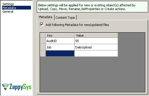Setting Amazon S3 Metadata (Key/Value Pairs) in SSIS Amazon Storage Task