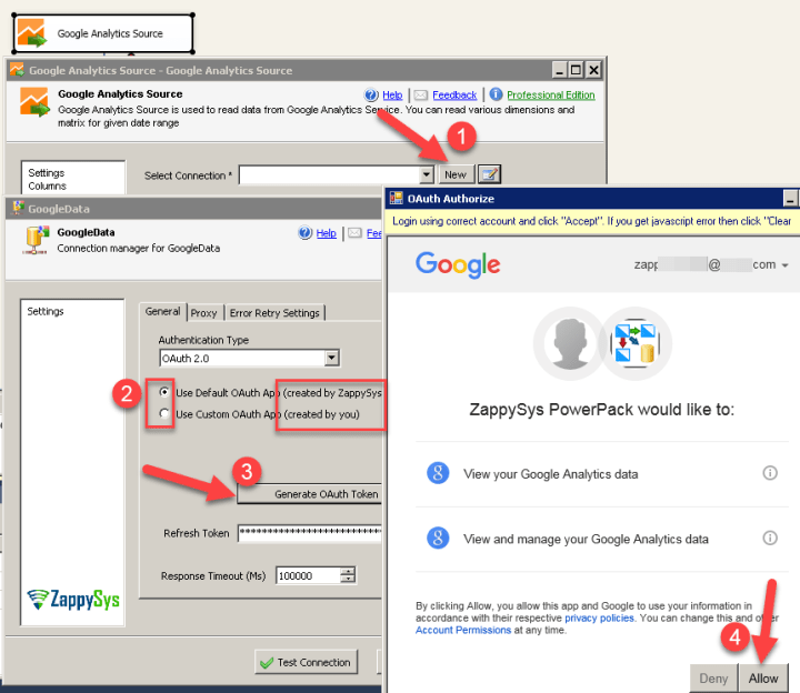 Get data from Google Analytics in SSIS using REST API Call - Powered