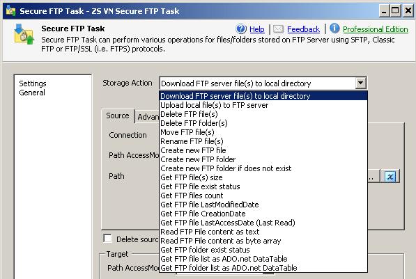 SSIS SFTP Task - Secure FTP, FTPS (SSL/TLS) | ZappySys