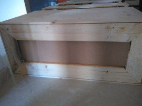 The base made from pallet wood